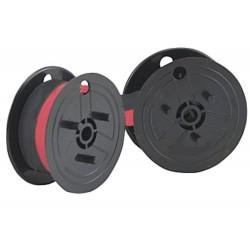 Farbband - schwarz-rot- für Casio DR 120 Doppelspule -Gr.51-Farbbandfabrik Original