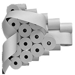 40 stück Thermorollen -80/80m/12 - für Mons QMP-3186 Thermopapier weiß Farbbandfabrik Original